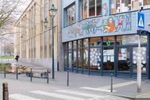 Entrée de l'école Ulenspiegel à Saint-Gilles